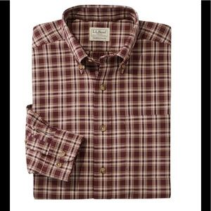NWT L.L. Bean Men's XL Tall Twill Plaid Shirt